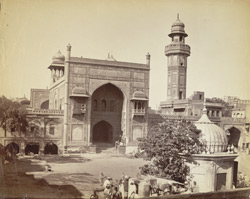 Wazir Khan's Mosque in [Lahore] city.